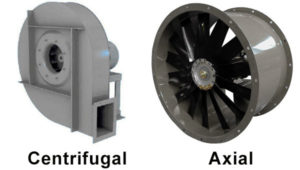 Axial and Centrifugal industrial fans : differences to know