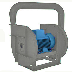 High pressure centrifugal dual-stage fan