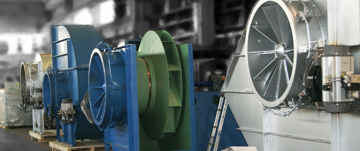 Centrifugal fans for industrial purpose